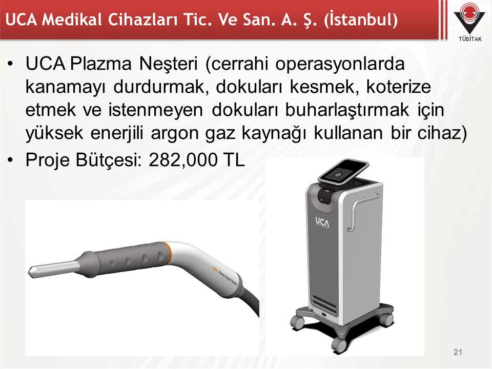 TÜBİTAK UCA Medikal Cihazları Tic. Ve San. A. Ş. (İstanbul) UCA Plazma Neşteri (cerrahi operasyonlarda kanamayı durdurmak, dokuları kesmek, koterize e
