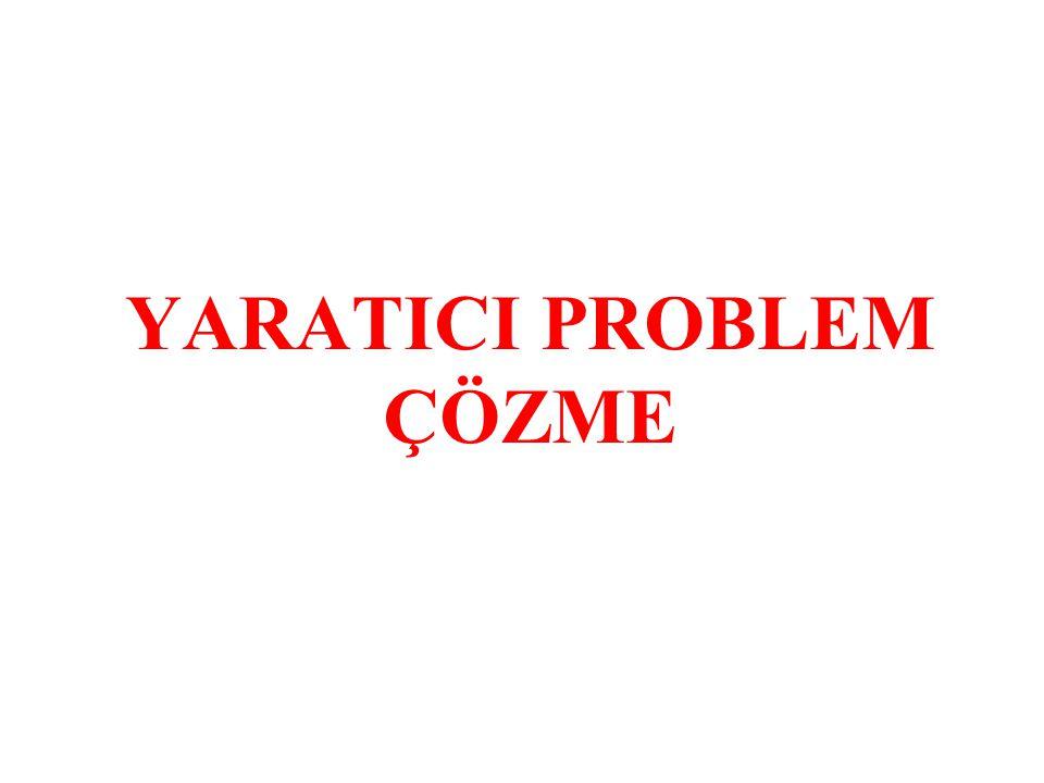 YARATICI PROBLEM ÇÖZME