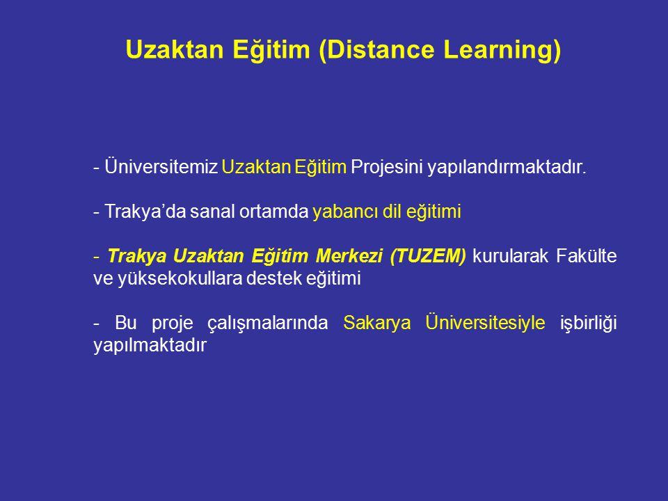 - Üniversitemiz Uzaktan Eğitim Projesini yapılandırmaktadır.