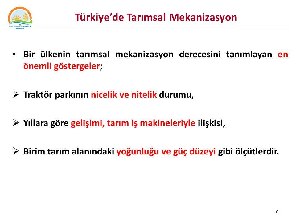 Türkiye'de Traktör ve Biçerdöverlerin Mekanik Ömürleri 7