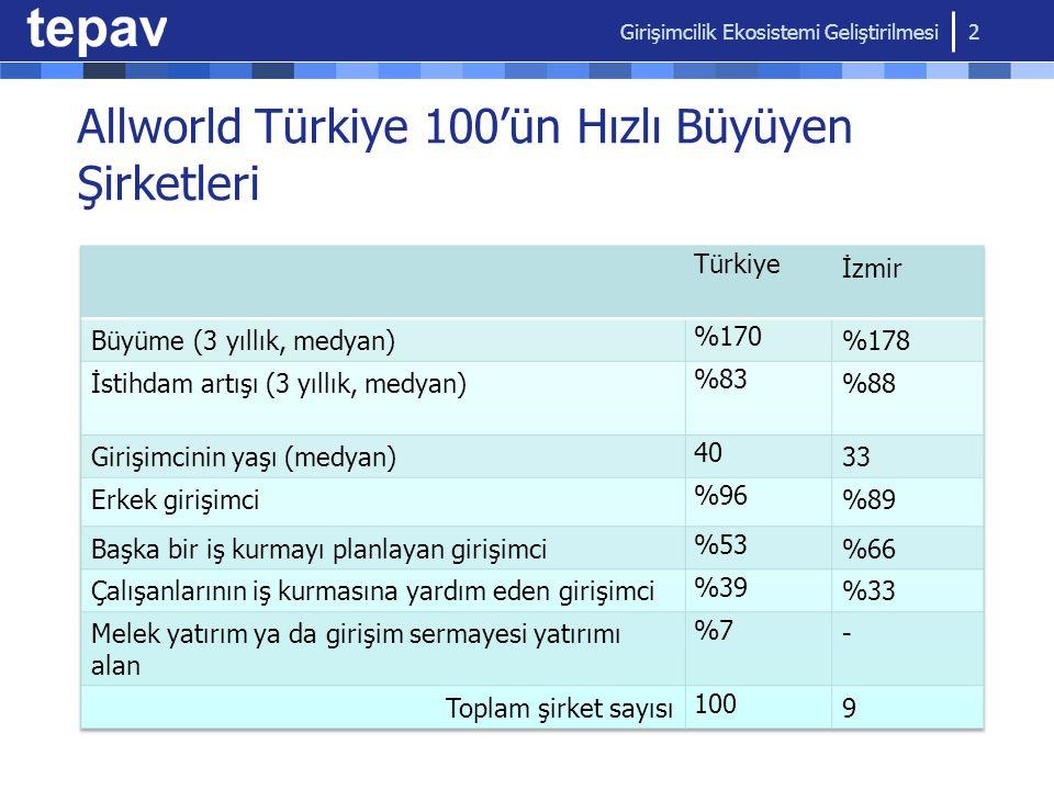 Allworld Türkiye 100'ün Hızlı Büyüyen Şirketleri Girişimcilik Ekosistemi Geliştirilmesi 2