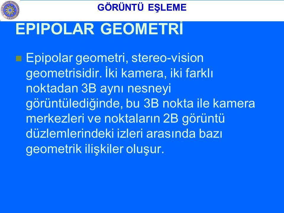 EPIPOLAR GEOMETRİ Epipolar geometri, stereo-vision geometrisidir.