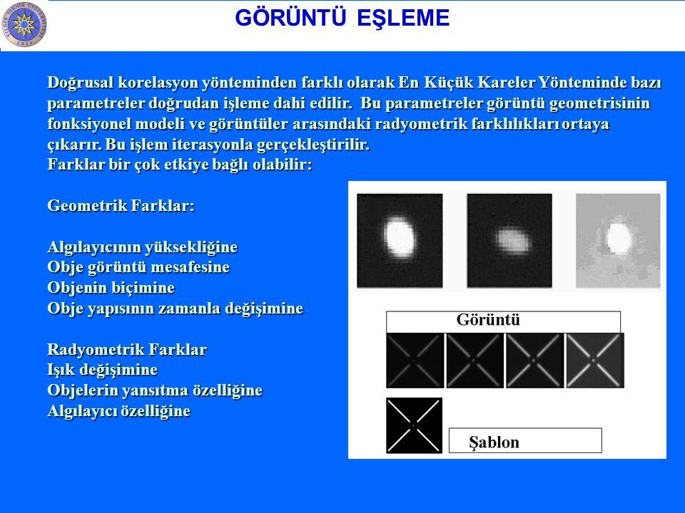 Doğrusal korelasyon yönteminden farklı olarak En Küçük Kareler Yönteminde bazı parametreler doğrudan işleme dahi edilir.