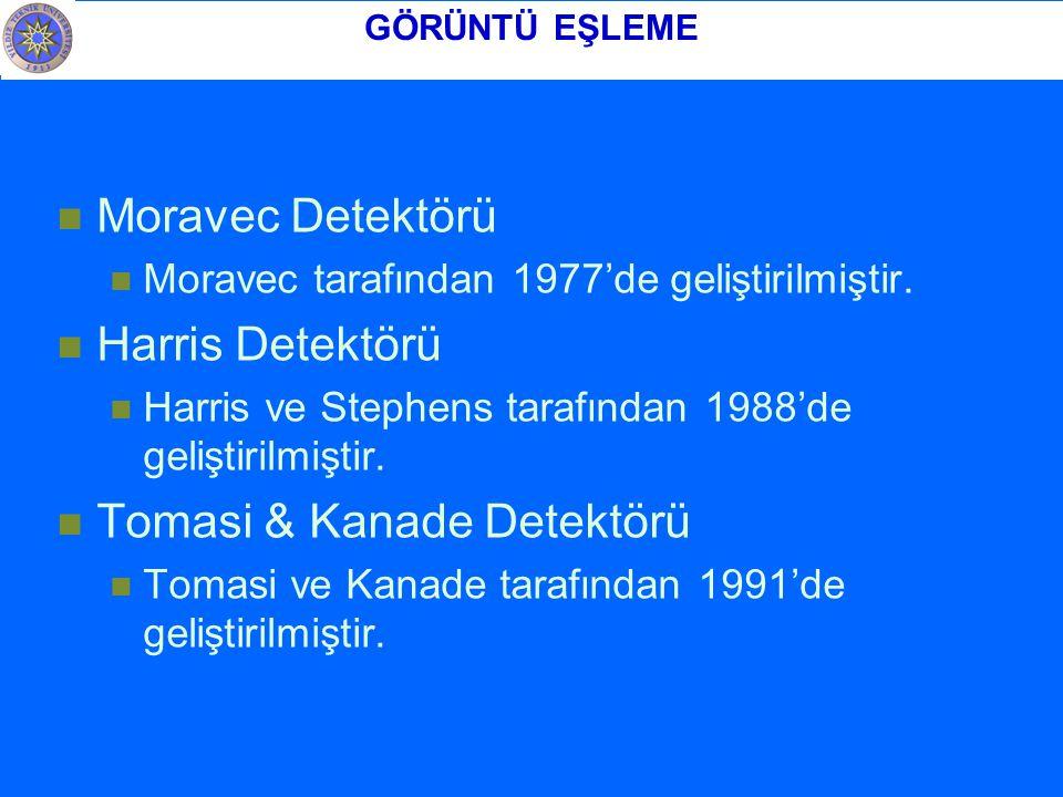 Moravec Detektörü Moravec tarafından 1977'de geliştirilmiştir.