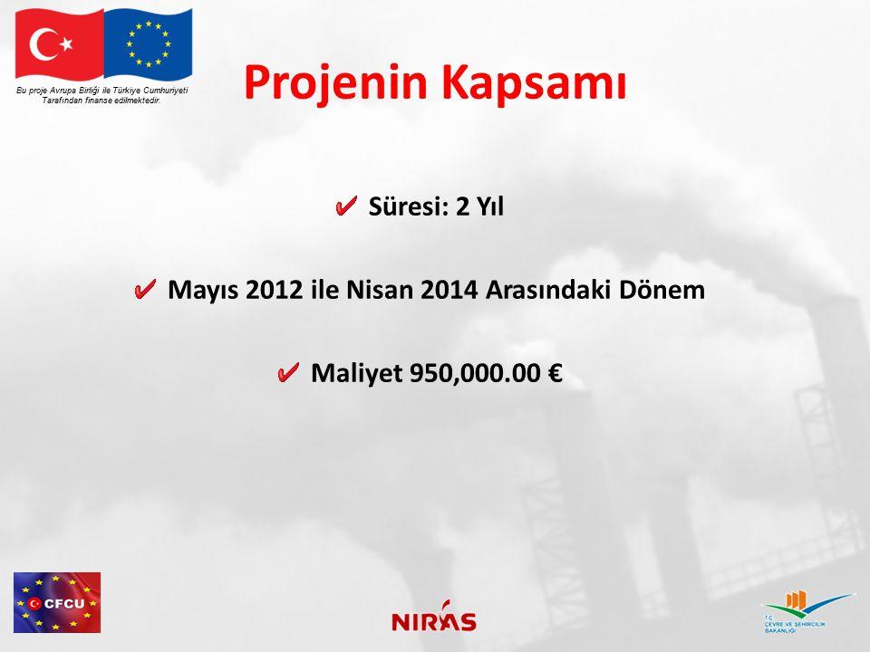 Projenin Kapsamı Süresi: 2 Yıl Mayıs 2012 ile Nisan 2014 Arasındaki Dönem Maliyet 950,000.00 € Bu proje Avrupa Birliği ile Türkiye Cumhuriyeti Tarafın