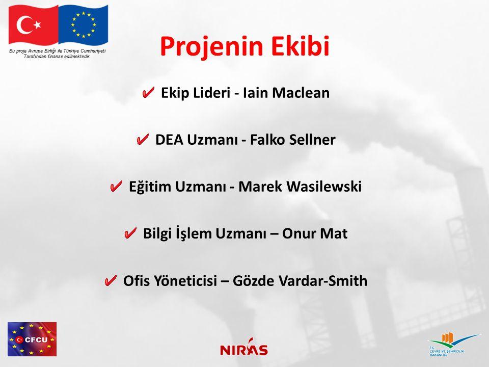 Projenin Ekibi Ekip Lideri - Iain Maclean DEA Uzmanı - Falko Sellner Eğitim Uzmanı - Marek Wasilewski Bilgi İşlem Uzmanı – Onur Mat Ofis Yöneticisi –