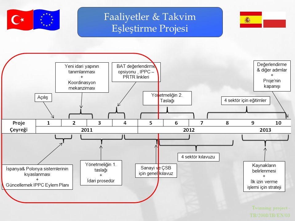 Twinning project - TR/2008/IB/EN/03 Faaliyetler & Takvim Eşleştirme Projesi Açılış İspanya& Polonya sistemlerinin kıyaslanması + Güncellemek IPPC Eyle