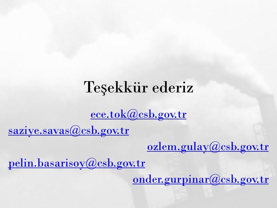 Te ş ekkür ederiz ece.tok@csb.gov.tr saziye.savas@csb.gov.tr ozlem.gulay@csb.gov.tr pelin.basarisoy@csb.gov.tr onder.gurpinar@csb.gov.tr