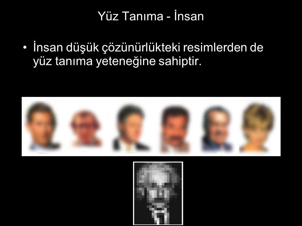 Yüz Tanıma - İnsan İnsan düşük çözünürlükteki resimlerden de yüz tanıma yeteneğine sahiptir.