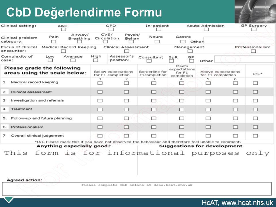 LOGO CbD Değerlendirme Formu HcAT, www.hcat.nhs.uk