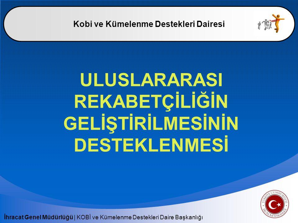 İhracat Genel Müdürlüğü | KOBİ ve Kümelenme Destekleri Daire Başkanlığı Uluslararası Rekabetçiliğin Geliştirilmesinin Desteklenmesi (UR-GE) Eğitim ve Danışmanlık Programları Dış Ticaret Satış – Pazarlama – İnsan Kaynakları Süreç İyileştirme ve Yönetimi Stratejik Yönetim Bilgi ve İletişim Teknolojileri Kalite – Verimlilik Sektöre Özgü Konular Bakanlıkça Uygun Görülen Diğer Konular Destek Miktarı : Proje Başına 400.000 USD Dış Ticaret Satış – Pazarlama – İnsan Kaynakları Süreç İyileştirme ve Yönetimi Stratejik Yönetim Bilgi ve İletişim Teknolojileri Kalite – Verimlilik Sektöre Özgü Konular Bakanlıkça Uygun Görülen Diğer Konular Destek Miktarı : Proje Başına 400.000 USD