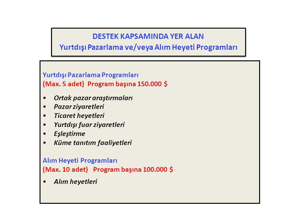 Yurtdışı Pazarlama Programları (Max.