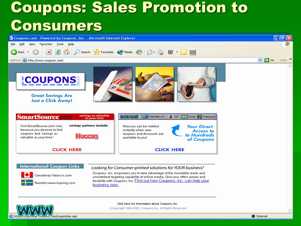 Coupons: Sales Promotion to Consumers