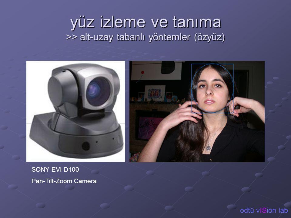 yüz izleme ve tanıma >> alt-uzay tabanlı yöntemler (özyüz) SONY EVI D100 Pan-Tilt-Zoom Camera odtü vISion lab