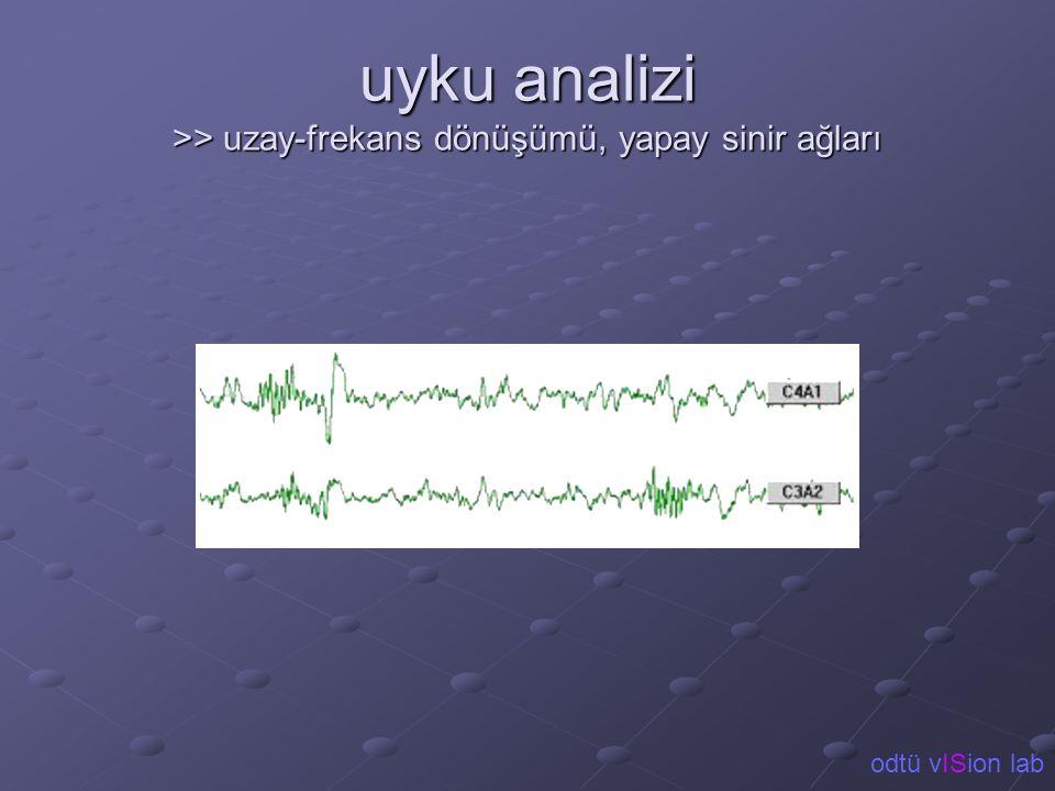 uyku analizi >> uzay-frekans dönüşümü, yapay sinir ağları odtü vISion lab