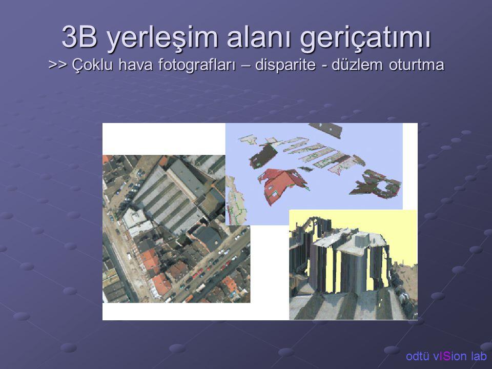 3B yerleşim alanı geriçatımı >> Çoklu hava fotografları – disparite - düzlem oturtma odtü vISion lab