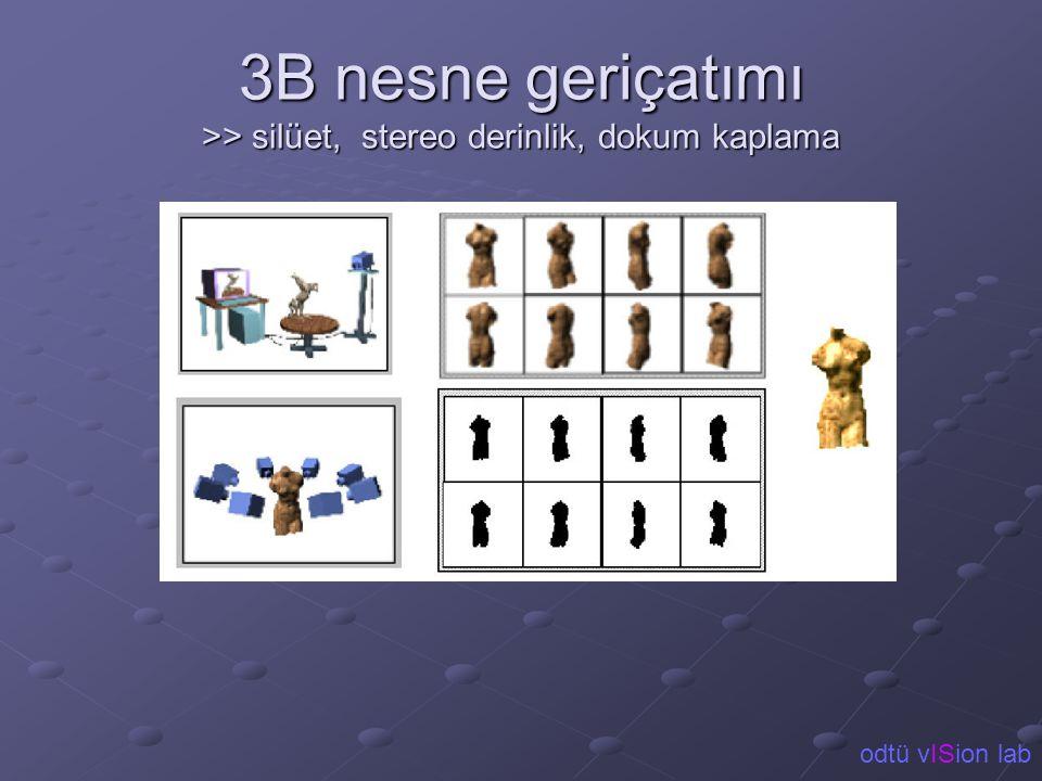 3B nesne geriçatımı >> silüet, stereo derinlik, dokum kaplama odtü vISion lab