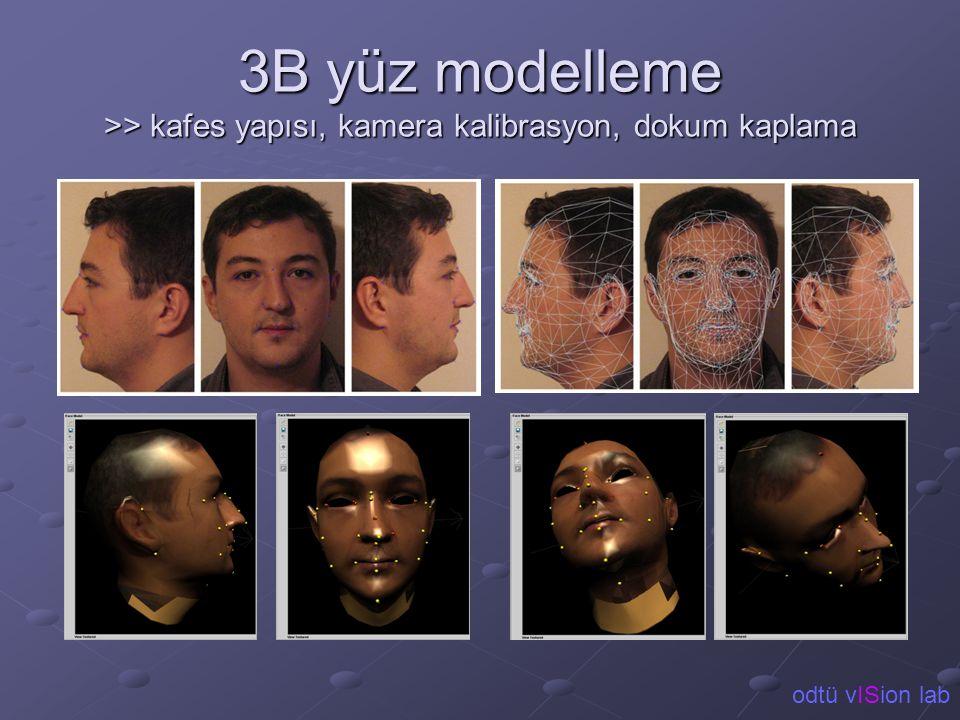 3B yüz modelleme >> kafes yapısı, kamera kalibrasyon, dokum kaplama odtü vISion lab