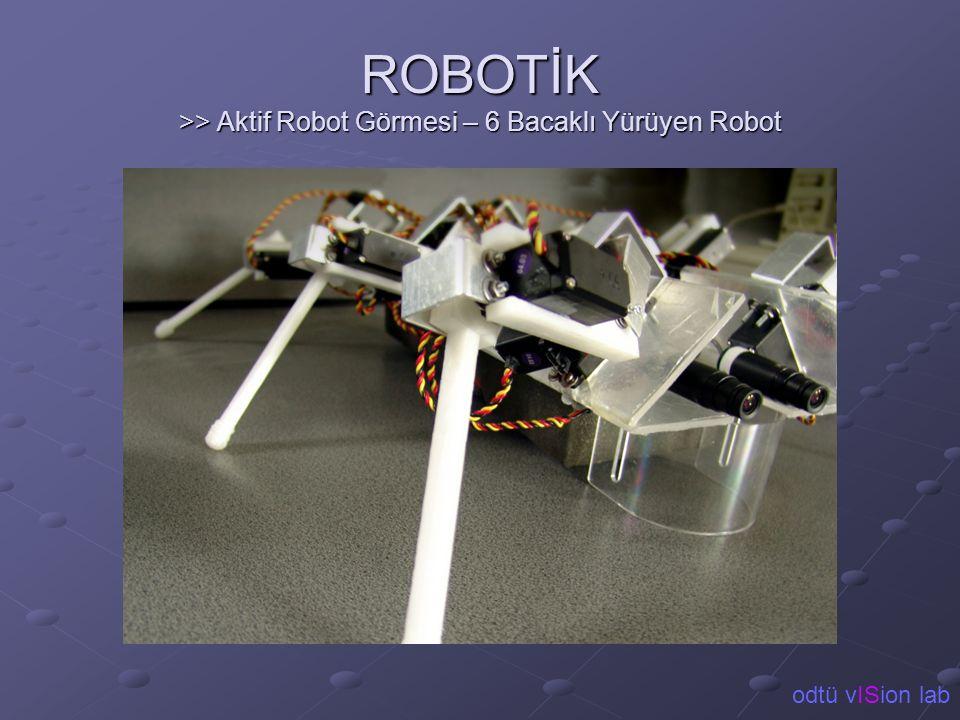 ROBOTİK >> Aktif Robot Görmesi – 6 Bacaklı Yürüyen Robot odtü vISion lab