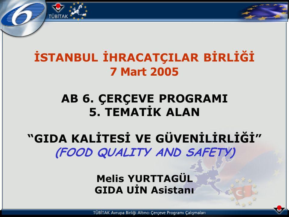 İSTANBUL İHRACATÇILAR BİRLİĞİ 7 Mart 2005 AB 6. ÇERÇEVE PROGRAMI 5.