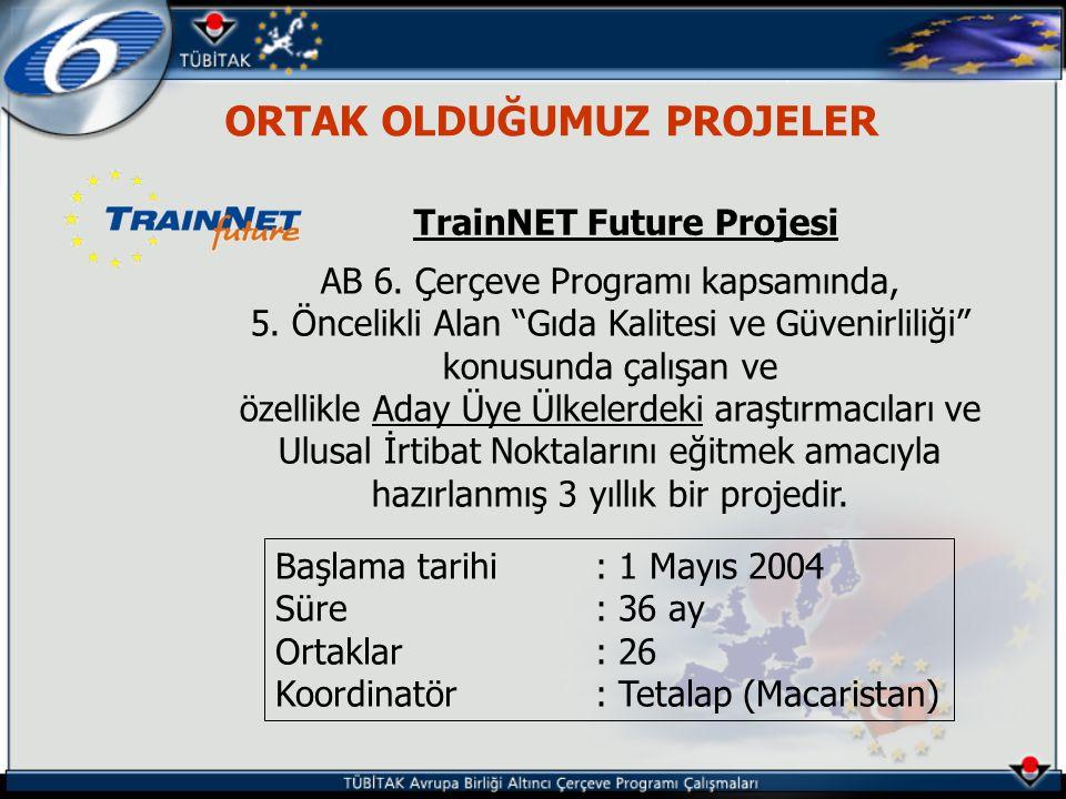 ORTAK OLDUĞUMUZ PROJELER TrainNET Future Projesi AB 6.