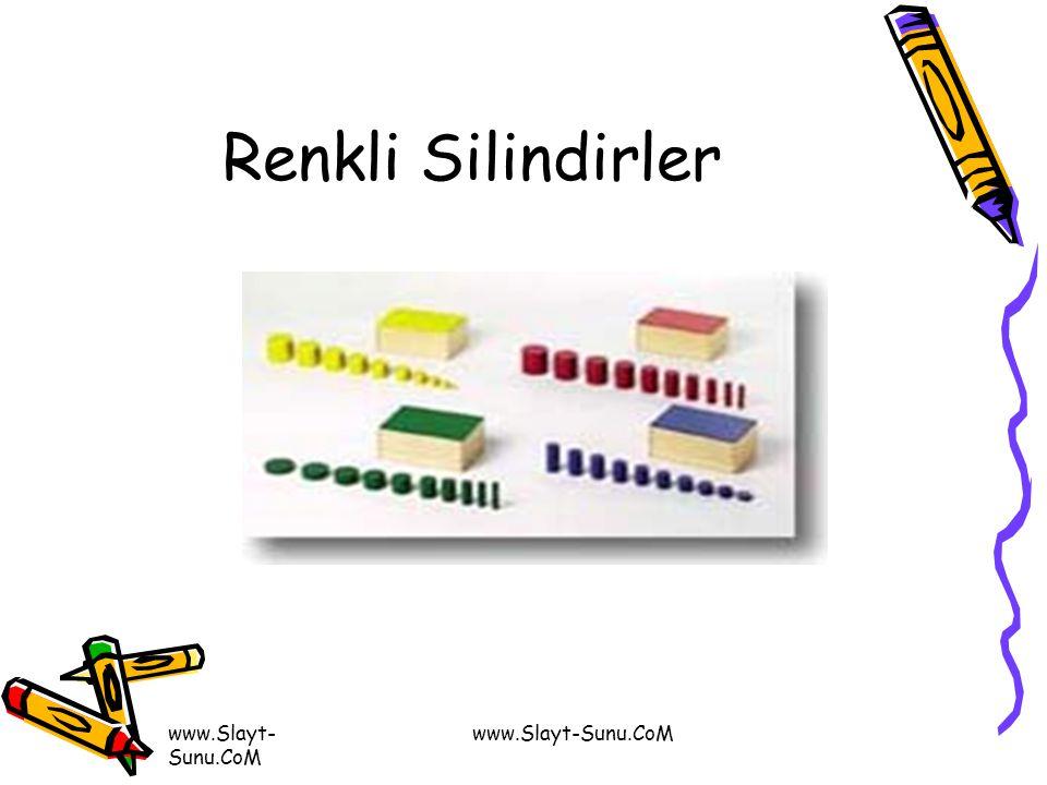 www.Slayt- Sunu.CoM Renkli Silindirler