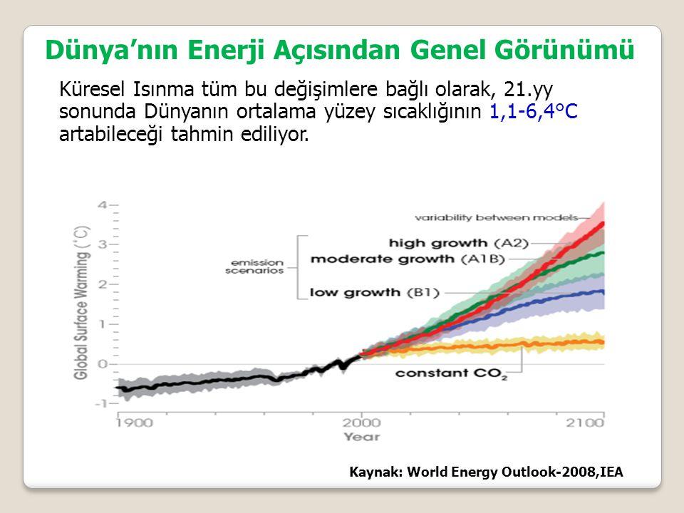 Küresel Isınma tüm bu değişimlere bağlı olarak, 21.yy sonunda Dünyanın ortalama yüzey sıcaklığının 1,1-6,4°C artabileceği tahmin ediliyor.