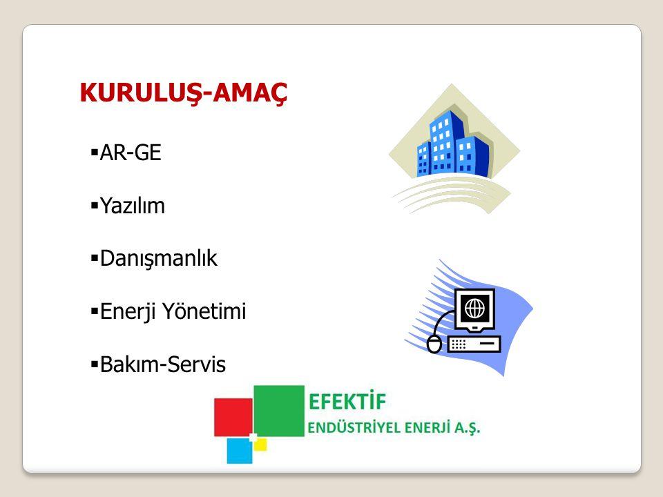 KURULUŞ-AMAÇ  AR-GE  Yazılım  Danışmanlık  Enerji Yönetimi  Bakım-Servis