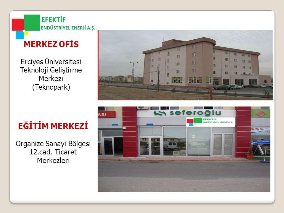 MERKEZ OFİS Erciyes Üniversitesi Teknoloji Geliştirme Merkezi (Teknopark) EĞİTİM MERKEZİ Organize Sanayi Bölgesi 12.cad.