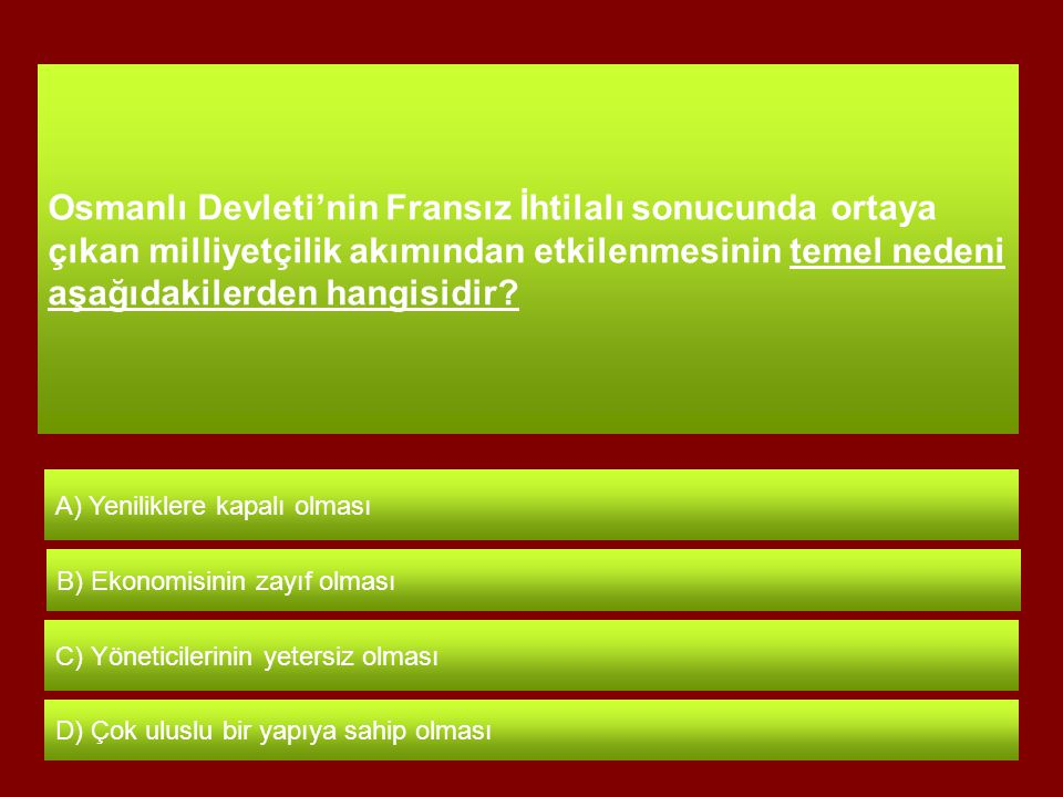 Bu konuşma ile kendini tanıtan Osmanlı askeri, Aşağıdakilerden hangisidir? A) Akıncı B) Yeniçeri D) Tımarlı sipahi C) Levent
