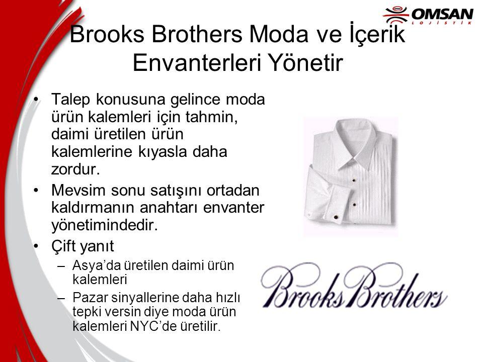 Brooks Brothers Moda ve İçerik Envanterleri Yönetir Talep konusuna gelince moda ürün kalemleri için tahmin, daimi üretilen ürün kalemlerine kıyasla da