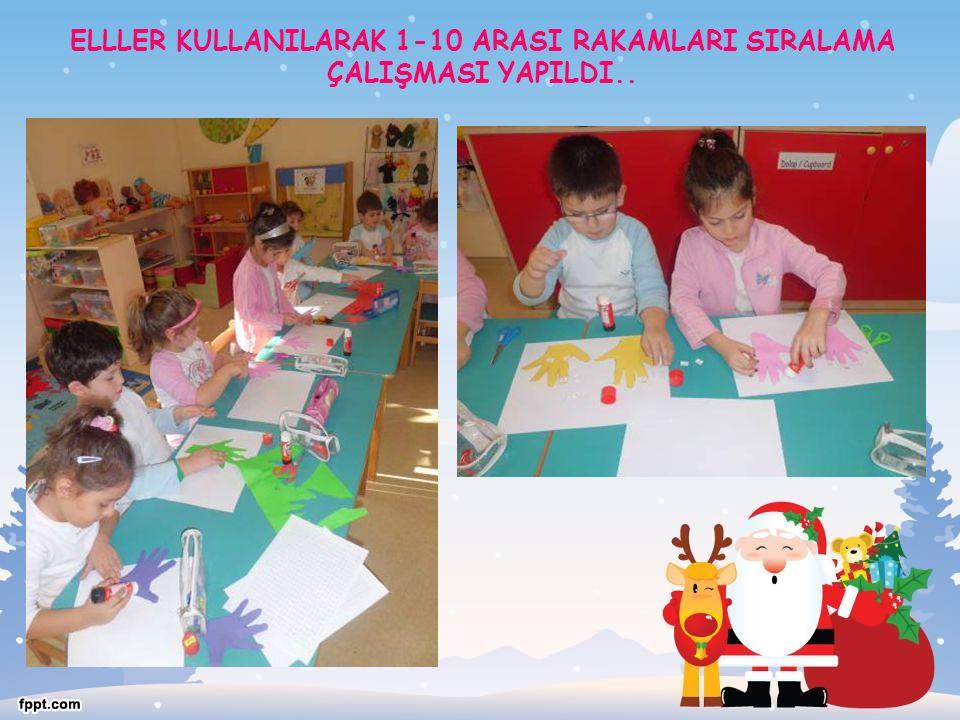 ELLLER KULLANILARAK 1-10 ARASI RAKAMLARI SIRALAMA ÇALIŞMASI YAPILDI..
