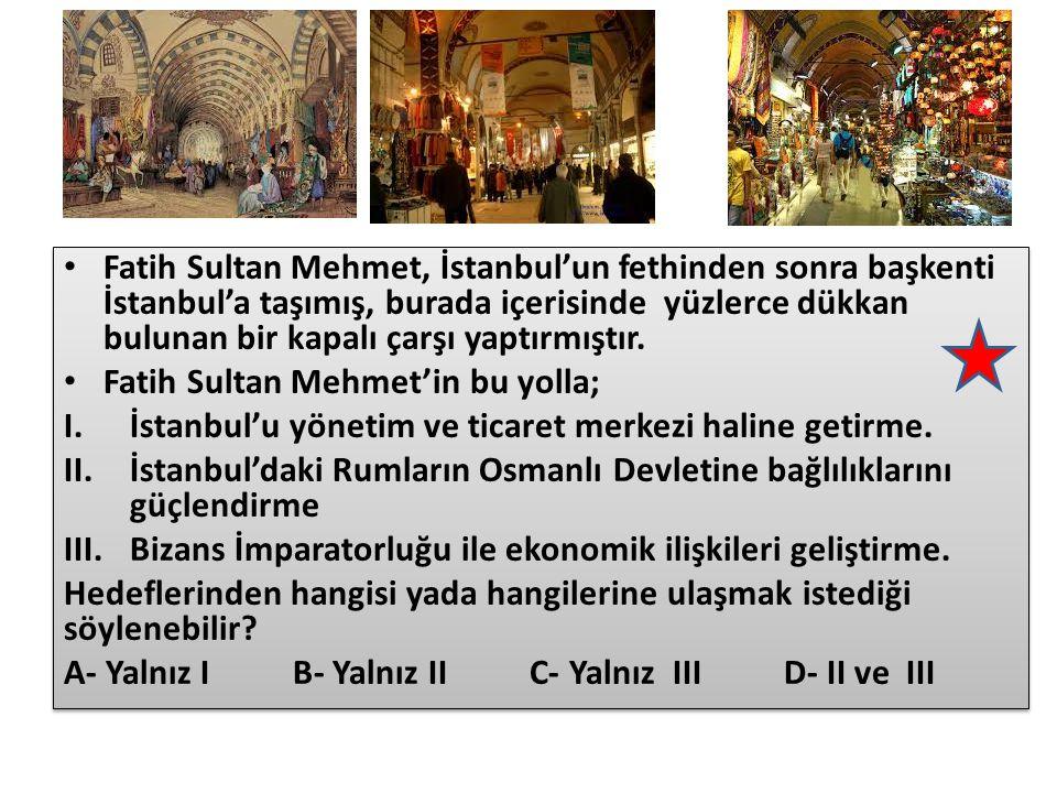 İstanbul'dan İtalya'ya bilim adamı ve sanatçıların gitmesi Rönesans hareketlerinin hızlanması Önemli ticaret yollarının Türklerin eline geçmesi Coğrafi Keşiflerin yapılması Güçlü surların toplarla yıkılabileceğinin anlaşılması Derebeylerin yıkılıp krallıkların güçlenmesi Aşağıda İstanbul'un fethinin dünya tarihini etkileyen sonuçları ile ilgili bir eşleştirme tablosu verilmiştir.