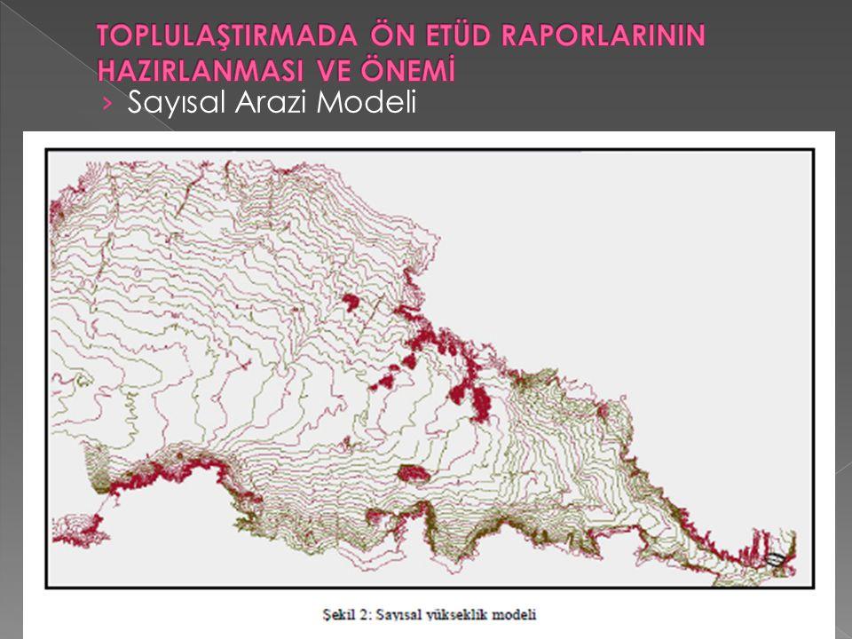› Sayısal Arazi Modeli
