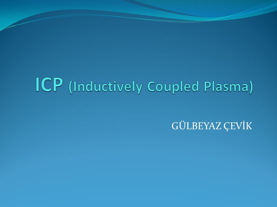 ICP Elementlerin tayininde kullanılan bir makinadır.