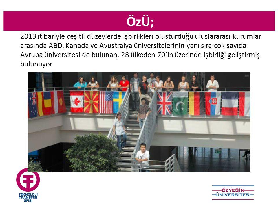 ÖzÜ; 2013 itibariyle çeşitli düzeylerde işbirlikleri oluşturduğu uluslararası kurumlar arasında ABD, Kanada ve Avustralya üniversitelerinin yanı sıra çok sayıda Avrupa üniversitesi de bulunan, 28 ülkeden 70'in üzerinde işbirliği geliştirmiş bulunuyor.