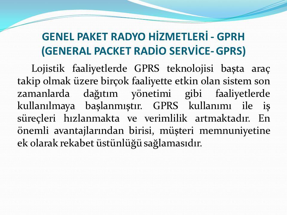 GENEL PAKET RADYO HİZMETLERİ - GPRH (GENERAL PACKET RADİO SERVİCE- GPRS) Lojistik faaliyetlerde GPRS teknolojisi başta araç takip olmak üzere birçok f