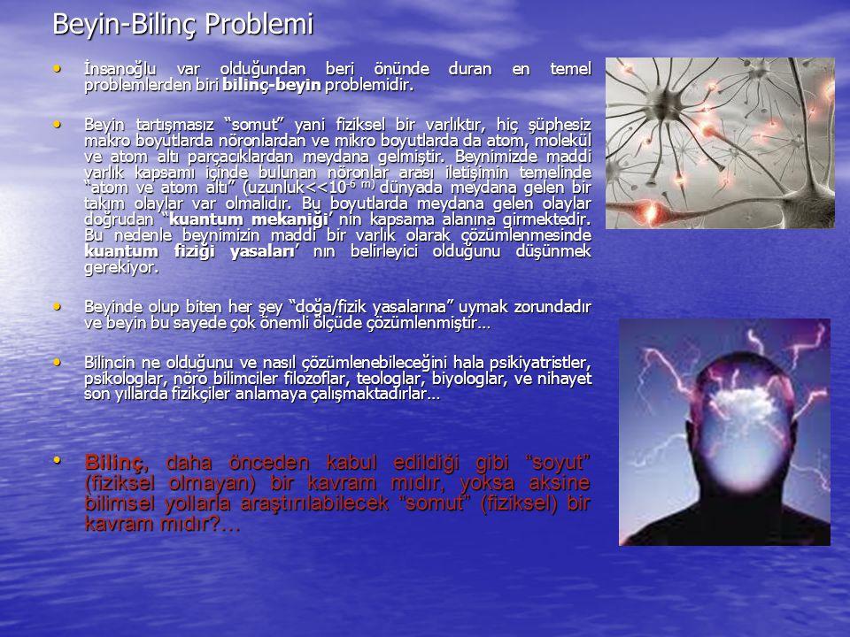 Beyin-Bilinç Problemi İnsanoğlu var olduğundan beri önünde duran en temel problemlerden biri bilinç-beyin problemidir. İnsanoğlu var olduğundan beri ö