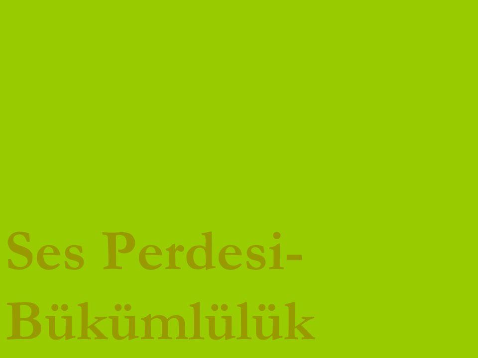 www.turkceciler.com Ses Perdesi- Bükümlülük