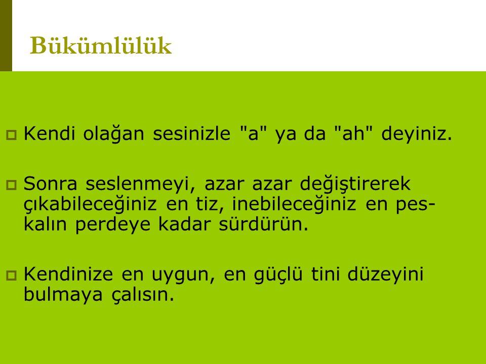 www.turkceciler.com  Kendi olağan sesinizle