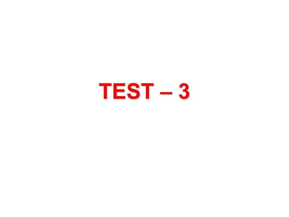 TEST – 3