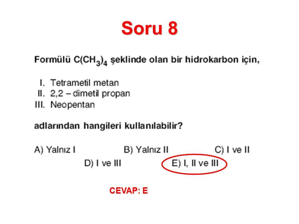 Soru 9 CEVAP: A