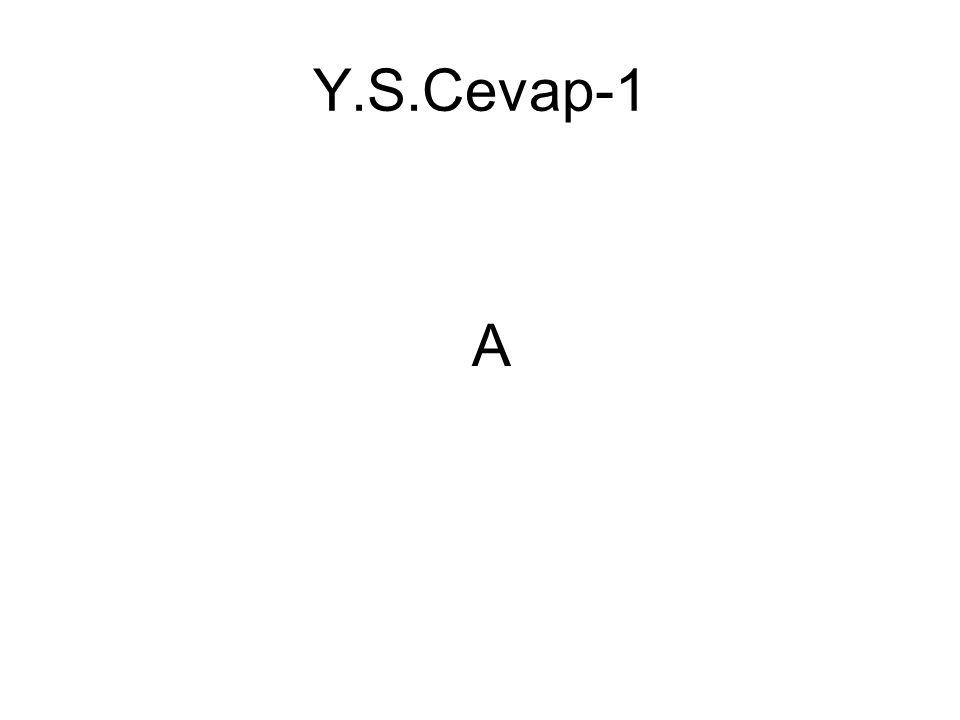 Y.S.Cevap-1 A