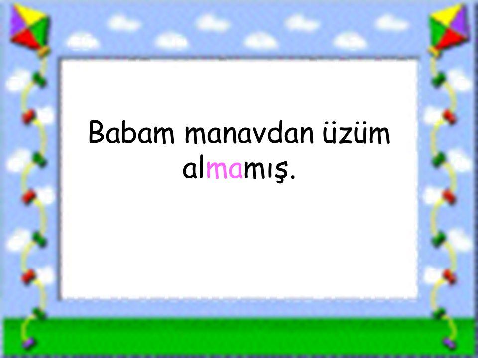 www.sorubak.com Babam manavdan üzüm almamış.