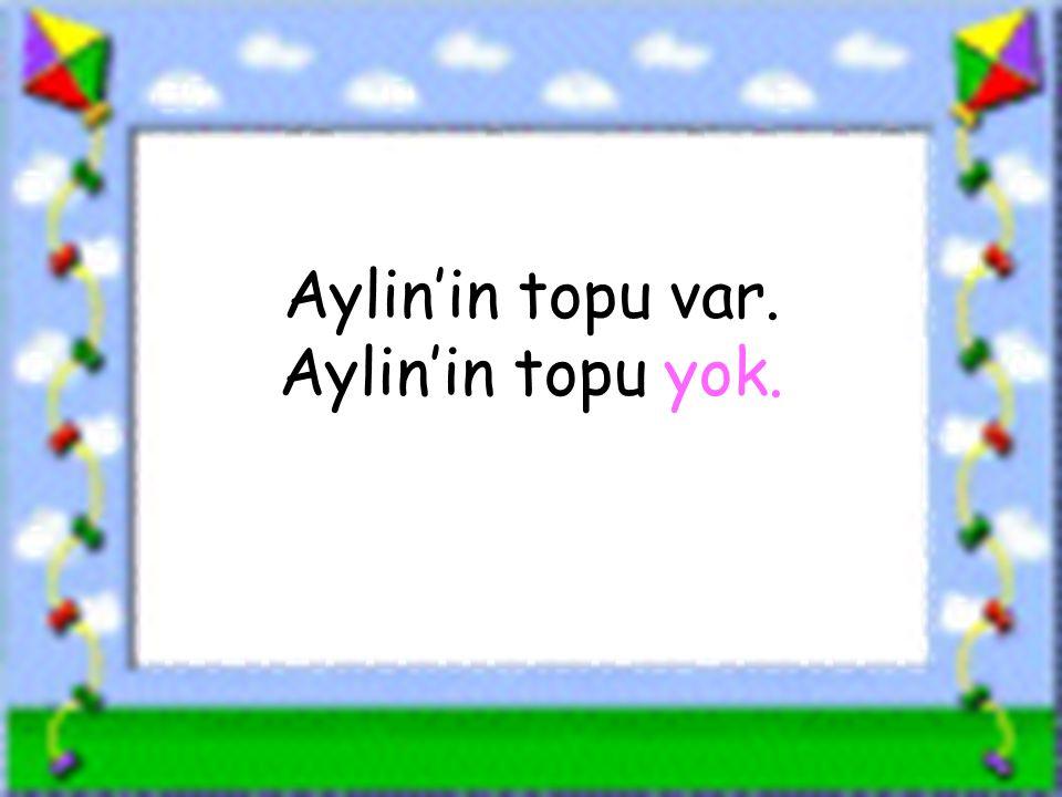 www.sorubak.com Aylin'in topu var. Aylin'in topu yok.