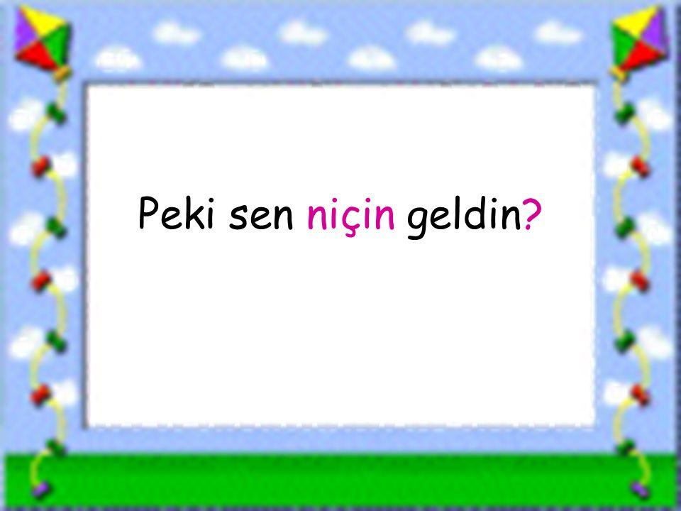 www.sorubak.com Peki sen niçin geldin?