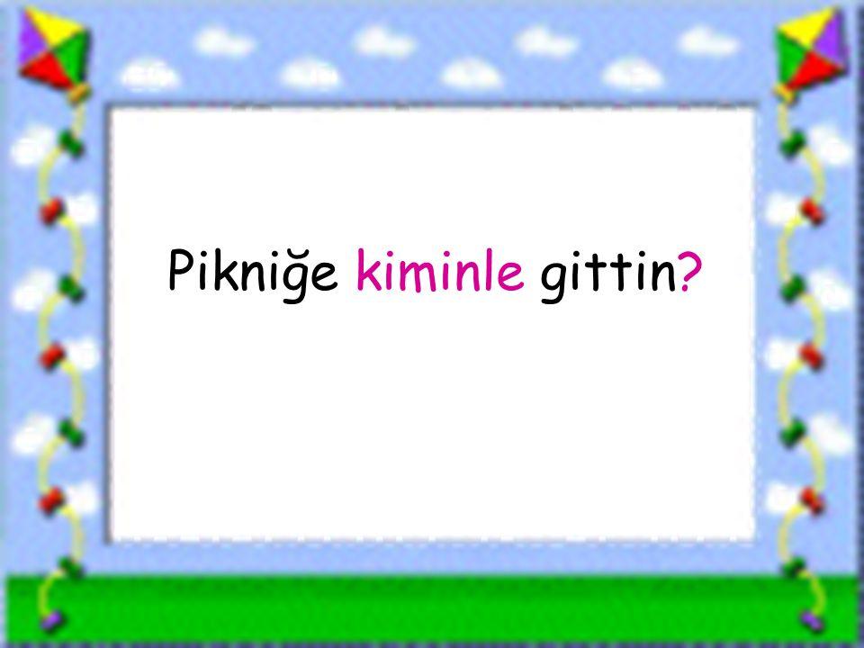 www.sorubak.com Pikniğe kiminle gittin?