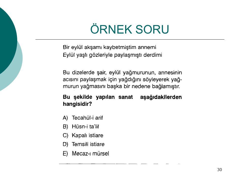 ÖRNEK SORU 30