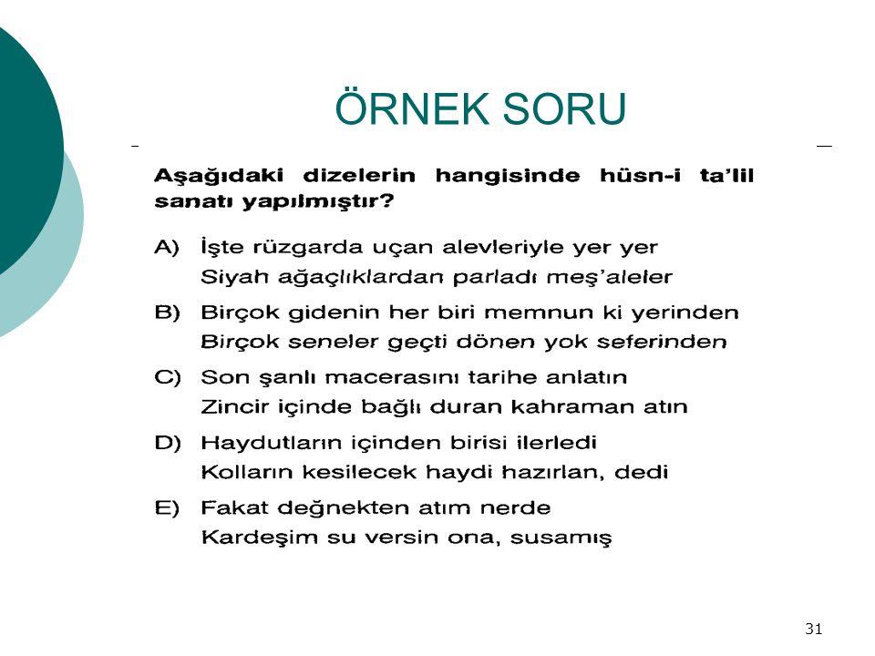ÖRNEK SORU 31