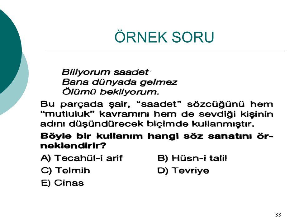 ÖRNEK SORU 33